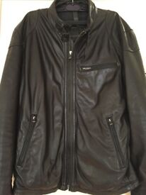 Massimo Dutti Men's Leather Jacket Size L/40