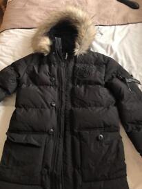 Men's Sik Silk Parka Coat
