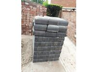 300 Double Bullnose Blue Bricks, 11 Internal Returns and 3 Stop Ends
