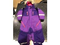 Ski all in one and gloves age 3-4