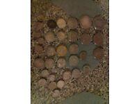 33 vintage silver coins 237 grams