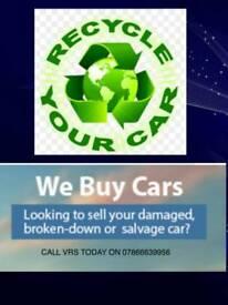 Wanted any motor vehicles