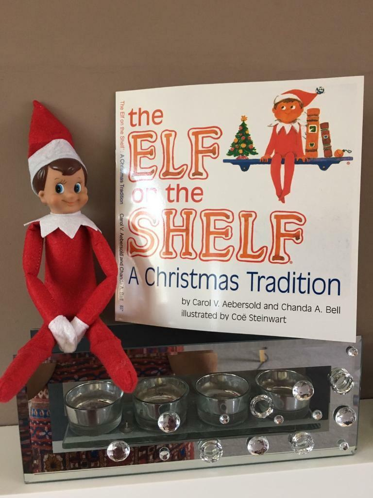 Elf on the Shelf Red Boy Elf with paperback book