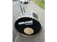BASS DRUM 22 INCH NEEDS NEW SKIN AND LEGS