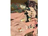 Girls baby cloths 0-3 months and NB vests new with tags