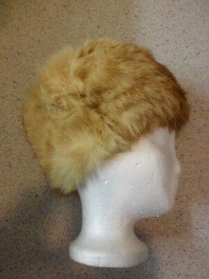 Oma Damen Mütze (Vintage Omas Damen Fellmütze Pelzmütze, Kurzhaarpelz)