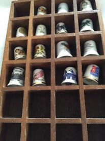 Thimbles Collection with Display stand.