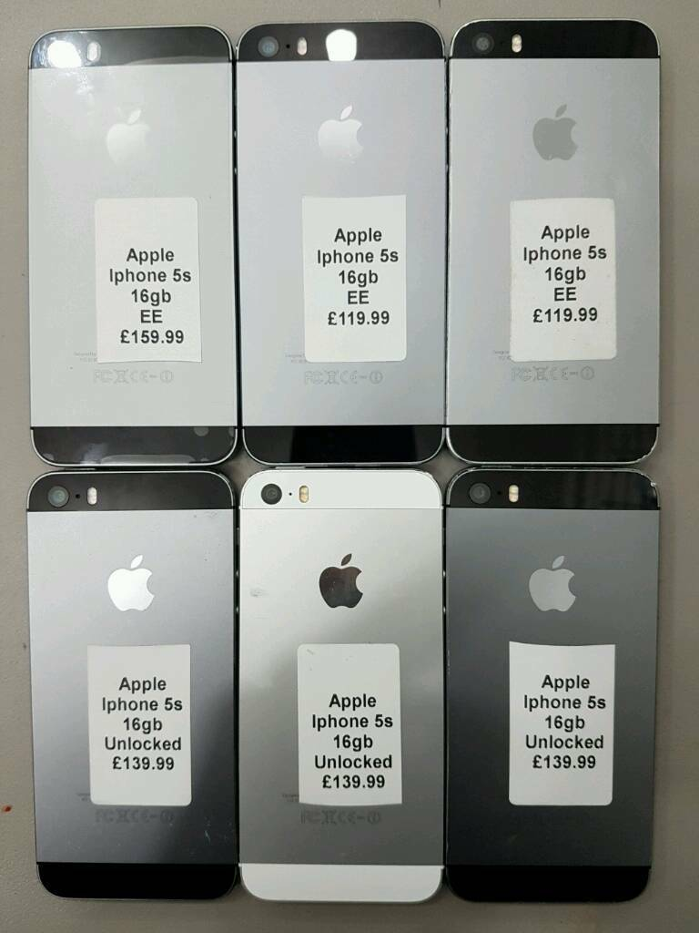 Apple iPhone 5s Good Condition 16gb Silver And Space Grey Colourin Bradford, West YorkshireGumtree - Apple iPhone 5sGood Condition16gbSilver And Space Grey ColourWith All AccessoriesBuy With Peace Of Mind With Receipt And WarrantyApple IPhone 5s 16gb(EE)£110Apple IPhone 5s 16gb(Unlocked)£130Apple IPhone 5s 16gb(EE)Five Months Apple...