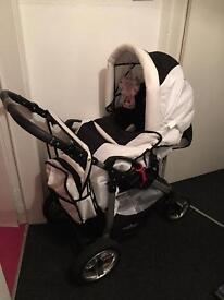 Pram ( carry cot, stroller and bag)