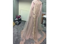 Beautiful embroided asian gown