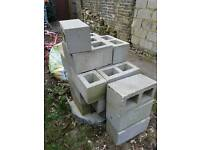 22 hollow concrete blocks