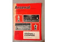 Various Arsenal Home Match Programmes