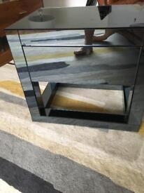 Dwell reflect side table with draw