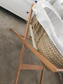 Moses basket and stand- perfect condition