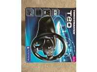 PS3/4 steering wheel and foot pedels as new only used once bought in nov like new with box