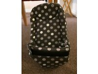 """Samsonite """"spots"""" forward facing baby carrier with newborn insert - excellent condition"""