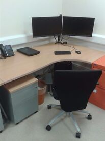 Single desk available in quiet shared office, recently refurbished