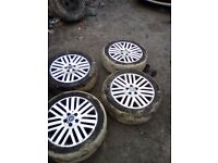 "FORD MONDEO Galaxy MK4 4 X 17"" Alloy Wheels With Tyres 225/45/17 6mm tread"