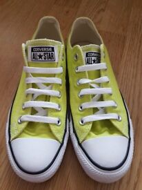 CONVERSE Yellow Lime All Star Chuck Taylor Trainers Size 5, Eur 38