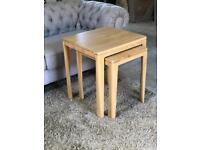 Ava Oak Nest Of Tables BRAND NEW