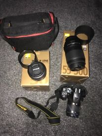 Nikon D5300 with extra lenses, great condition