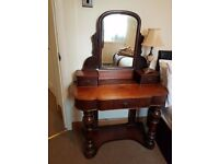 Solid oak wood antique dressing table
