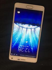 Samsung galaxy note 4 white 32gb on o2 network