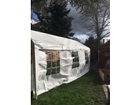 Marquee style party tents - 2 large and 2 small sold together or seperately
