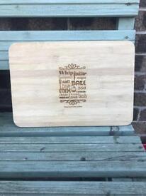 Handmade bamboo chopping board