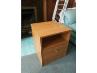 Bedside Table Drawers Shelf Argos Malibu Light Wood Pine
