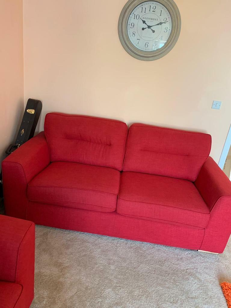Astonishing Beautiful Red Sofa And Chair New Condition Disability Sale In Bicester Oxfordshire Gumtree Onthecornerstone Fun Painted Chair Ideas Images Onthecornerstoneorg