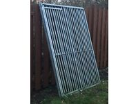 Metal fencing panels