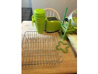 Green kitchen bundle including Brita filter kettle and green toaster