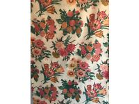 Cotton Fabric 3.98m, 152cm wide, large floral print, peach, pink and cream