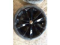 Volkswagen scirocco passat CC 19 inch alloys tyres black set 4