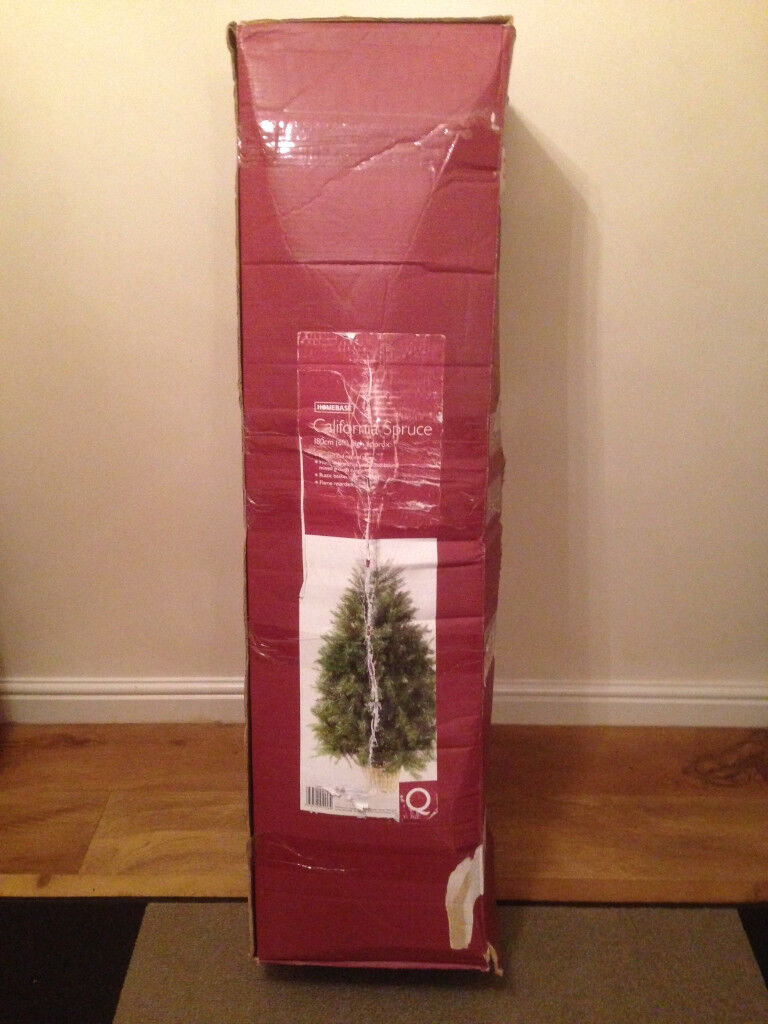 California Spruce Christmas Tree (Homebase) with Lights