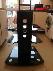 Black 3 shelf flat screen tv stand