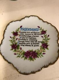 Friendship plate