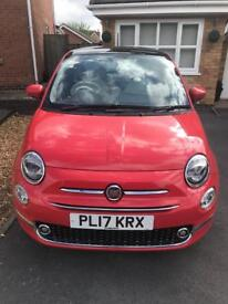 Fiat 500 Lounge in Glam Coral