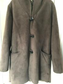 Brown ladies winter coat