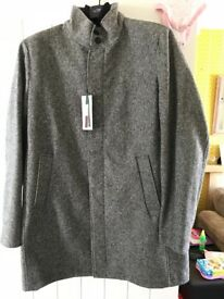 Next Italian fabric men's long coat XL brand new with tags