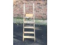 Vintage wooden ladders in good condition 4'ft 5 inches tall call me on 07874827491