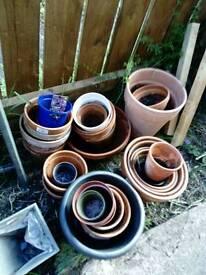 Joblot of plat pots