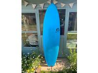 Torq Softdeck Mod Fish 6ft 6 surfboard - Blue