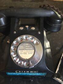 Vintage antique Bakelite phone