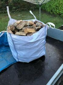 Bulk bag hardwood logs
