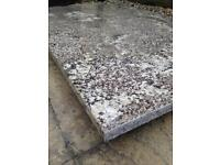 Beautiful slab of polished granite with silver specks