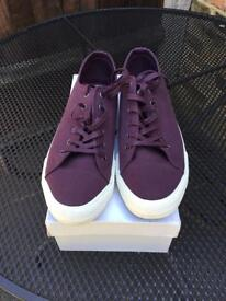John Lewis canvas trainers