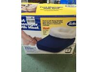 Scholl fleece lined foot massager and warmer two settings with instructions boxed used once vgc