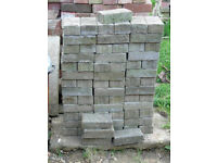 80+ BLUE PAVING BRICKS £20